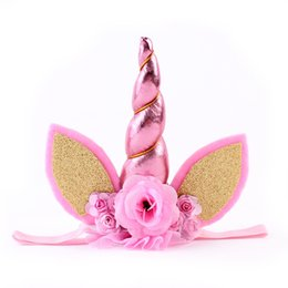 China Baby Hairband Girls Headband Floral Unicorn Design Party Hair Accessories Baby Gift Play Accessories Hair Band cheap girls yellow hair accessories suppliers