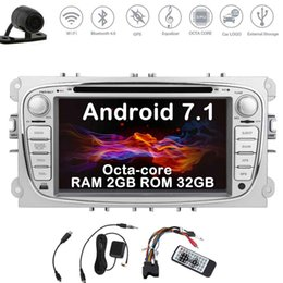 Ford Touch Screen Stereo Australia - Eincar Backup Camera Double Din Car Stereo Android Nougat system 7'' Car DVD Player for Ford Focus In Dash GPS Navigation Auto Radio