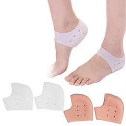 Discount silicon socks 1 Pair Gel Heel Sleeve Moisturizing Silicone Socks Heel Ankle Pain Relief Cushion Sleeve Silicon Ankle Cover
