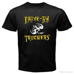 band drive 2018 - New Drive-By Truckers Rock Band Logo Men's Black T-Shirt Size S to 3XL cheap band drive