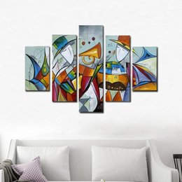 modern music oil painting UK - Handmade Oil Painting Abstract Music Picture On Canvas For Living Room Modern Painting Landscape Wall Art Pictures