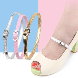 fix toes Canada - Ankle Strap Shoe laces High Heels Strap Sandals Peep-toe Leather Shoes Laces Accessories Shoes Off Fixed Belt