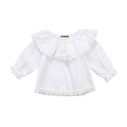 Discount long sleeve ruffled lace blouse - Pretty Newborn Baby Girls Infant Princess Lace Ruffles Long Sleeve Tops Cotton Clothes Blouse Kids Party Outwear Blouses