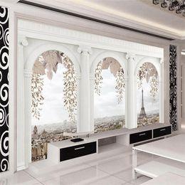 $enCountryForm.capitalKeyWord Canada - Wholesale-Customized Any Size Photo Wallpaper For Living Room Bedroom Home Decor Wall Mural Wallpaper Roman Column Papel De Parede 3D