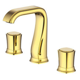 $enCountryForm.capitalKeyWord UK - wholesale Split FaucetSoft Basin Brass Gold Cold and Hot Switch Laundry Pool Sink Shower Room Double Handle Three Holes Round MPSK05