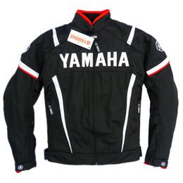 Summer Motorcycle Jackets NZ - Summer Mesh Motorcycle Jackets Moto Racing Windproof Jackets fit for Yamaha Motor With 5pcs Protectors Men Motorbike Jacket