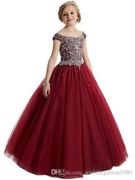 China Kids Flower Girl Dresses Neck Little Girl Dresses Lace Chiffon Kids Formal Wear For Wedding Party Communion Dresses suppliers