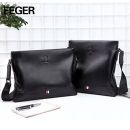FEGER Man Vertical Genuine Leather bag Men Messenger Business Men s  Briefcase Designer Handbags High Quality Shoulder Bags 4b1c090530528