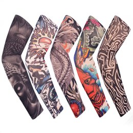 Discount block bike - Skull Armwarmer Bike Bicycle Arm Warmer Cycling Sports Tattoo UV Block Cool Cover Sun Protection Arm Sleeves