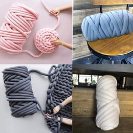 500g / pcs épais fil Chunky pour tricotage à la main DIY Crochet Anti pilling Pet Chat Chien Chenil Tisser Tapis Chien Couverture De Lit Oreiller Fils