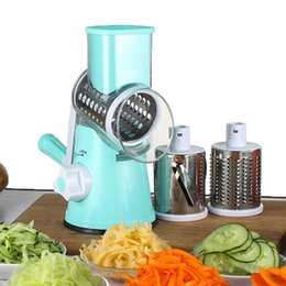 Drum tools online shopping - Multi Function Hand Cranked Vegetable Cutter Stainless Steel Drum Cheese Grater Kitchen Cooking Tools Accessory ok C R