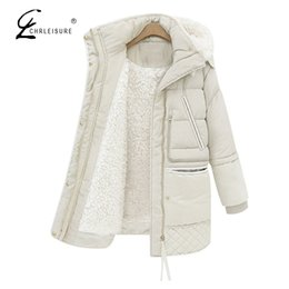 Plus Size Winter Parka Canada - Wholesale-CHRLEISURE Fashion Winter Jacket Women Parka Plus Size Warm Coat Female Hooded Thick Outerwear Parkas 2017 S-3XL 2 Colors