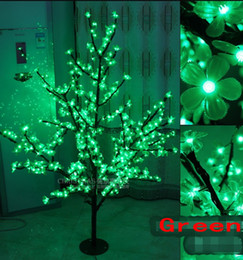 lighting height NZ - LED Artificial Cherry Blossom Tree Light Christmas Light 576pcs LED Bulbs 1.5m 5ft Height 110 220VAC Rainproof Outdoor Use Free Shipping