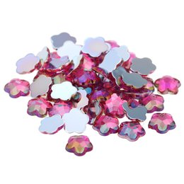 Facet diamonds online shopping - 500pcs mm AB Colors Quincunx Earth Facets Rhinestones Flatback Acrylic Nail Supplies Strass D Nail Art Decoration Diamonds
