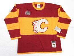 31c543164 Cheap custom CALGARY FLAMES HERITAGE CLASSIC CCM SWEATER Mens Mens Vintage  jerseys
