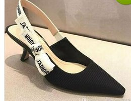 a1ef46d2733c5 2018 lettre noeud noeud chaussures à talons hauts femmes piste bout pointu  chaussures à talons bas femme Gladiaor sandales dame marque conception  chaussures ...