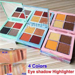 Blue green eyeshadow online shopping - 3 Styles KOURT Eyeshadow palette Highlighters Colors Kourt Eye Shadow Pressed Powder Palette Blue Pink Green