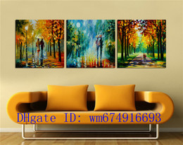 classical couple paintings 2020 - Couples Walking , 3 Pieces Home Decor HD Printed Modern Art Painting on Canvas (Unframed Framed) cheap classical couple