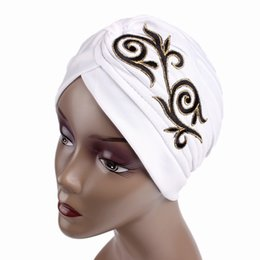 ElEgant summEr hats online shopping - Muslim Scarf Hat Vintage Elegant  Female India Hats Skiing Riding e85c29ffcef