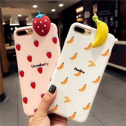 Fruits cover online shopping - 3D Cartoon Fruit Phone Case For Iphone X Cute Soft Back Phone Cover For Iphone Plus