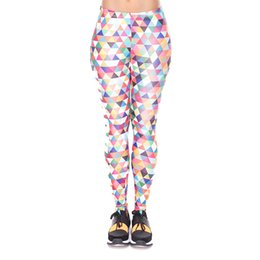 China Women Leggings Work Out Triangle Multi 3D Print Lady Skinny Stretchy Casual Yoga Wear Pants Gym Fitness Girl Capris Trousers (YX34260) supplier yoga pants work out print suppliers