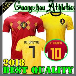 2018 World Cup Belgium Soccer Jersey 2018 Thail Quality Home Away LUKAKU  FELLAINI E.HAZARD KOMPANY DE BRUYNE 18 19 Belgium football shirt a101badaa