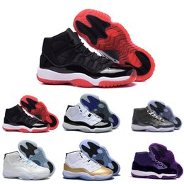 0d9f3ad5db33 Cheap Athletics Sneakers 11 Gym Red  white Chicago Midnight Navy WIN LIKE  82 Bred Basketball Shoes 11s Space Jam Mens Sports Shoes Womens