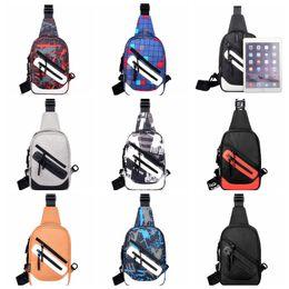 Single Shoulder Strap Packs Australia - 9colors Crossbody Bags Men Zipper Chest Bag Pack Casual messenger Bag Single Shoulder Strap purse kids backpack GGA880