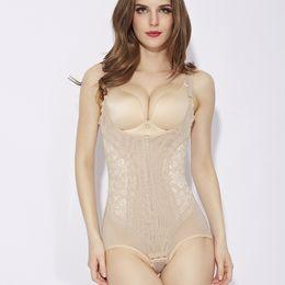 d5a51e6ae 5XL plus size women control body shapers slimming waist cincher butt lift  bodysuits lift bras shapewear zipper control underwear