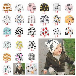 aed9199cb73 25Styles Adorable Kids INS Cotton Cartoon Hats Children Cute Fashion  Cartoon Caps INS Fox Beanies Panda Tiger Hats Winter Printed Baby Caps