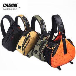 Discount camera slings - Caden Shoulder Camera Photo Bags Backpack Orange Black Khaki Digital Camera Case Sling Canvas Soft Bag For   New K1 K2