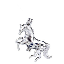 $enCountryForm.capitalKeyWord UK - 10pcs lot Silver Alloy Long-Tail Horse Unicorn Fairy Tales Oysters Beads Cage Locket Pendant Aromatherapy Perfume Essential Oils Diffuser