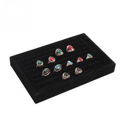 $enCountryForm.capitalKeyWord NZ - 2017 Practical Jewelry Holding Display Cases Velvet Slots Earrings Rings Tray Organizer Storage Holder Case Box Casket 4 Colors