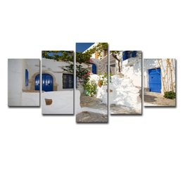 $enCountryForm.capitalKeyWord UK - Wall Art Canvas Painting Poster Wall Pictures For Living Room Home Decor 3 Piece Seaside Church Castle Landscape Modular Picture