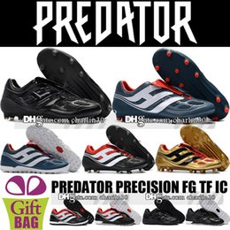 Cheap Shoes Boots NZ - Cheap Top Quality Predator Mania Champagne FG Soccer Shoes New Predator Precision FG Football Boots Predator Indoor IC TF Soccer Cleats Turf
