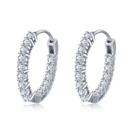 $enCountryForm.capitalKeyWord Canada - EA101678 High Polished trending hot products geometry circle earring stud jewelry 925 sterling silver post earring
