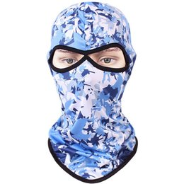 Chinese  Outdoor Riding equipment Cycling Whole Face mask camouflage Skiing Mask Polyester quick-drying breathable hood sunscreen manufacturers