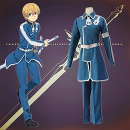 d3547dd95c Eugeo cosplay costumes Battle suit Japanese anime Sword Art Online  Alicization clothing Halloween costumes Spot supply