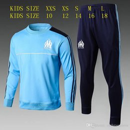 Soccer Jogging Suits NZ - cabelle Olympic Marseille kids Tracksuit Soccer Jogging kids Football Training suit 1718Soccer kids Suit Tracksuit OM Football Track Suit