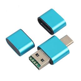 $enCountryForm.capitalKeyWord UK - New Portable USB 2.0 Type-C OTG Card Reader Memory Card Readers Adapter for SD TF Micro SD SDXC SDHC QJY99