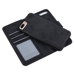 Sew Case UK - One piece Luxury Plain Wallet PU Leather Phone Case Handcraft Sewing Detachable Cover work for car holder for Samsung Galaxy S6 Edge S9 Plus