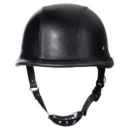 China 2016 New WWII German Style Dot Motorcycle Helmet Black Vintage Half Face Motorcycle Helmet For Chopper Size L cheap helmet chopper suppliers