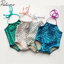 Swimwear Infant Australia - 2018 Brand New Toddler Infant Kid Baby Girl Scale Bikini Swimsuit Swimwear Bathing Suit One Piece Swimming Strap Clothes 6M-7T