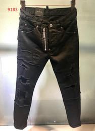 $enCountryForm.capitalKeyWord Canada - d 2018 High quality fashion New Style Brand Men's Denim Jean jacket Embroidery Tiger Pants Holes MEN Jeans Zipper Men Pants Trousers 28-36