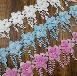 $enCountryForm.capitalKeyWord NZ - 15Yard Rhinestone Beaded Flower Tassel Chiffion Lace Fabric Trim Ribbon For Apparel Sewing DIY Doll Cap Hair clip