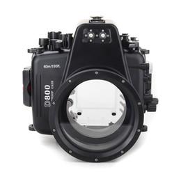 Alarms For Houses Australia - Meikon 60M Underwater Housing Waterproof Case For Nikon D800 105mm f 2.8G Camera Inbuilt Leak Detection Alarm Buzzer Sensor