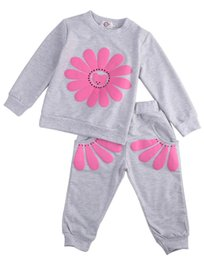 Chinese  Emmababy New Kids Infant Baby Girls SunFlower Clothes Cute T-shirt Tops + Pants Outfit Clothing Spring Fall 1 2 3 4 Years manufacturers