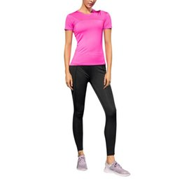 $enCountryForm.capitalKeyWord UK - Women Casual Short Sleeves O-Neck Solid Female T-shirt Patchwork Simple Tops Fast Drying Fitness Lady T-shirts