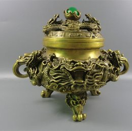 $enCountryForm.capitalKeyWord NZ - China Kowloon brass incense burner, tripod nine turn things around, very atmosph