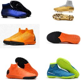 8485e01cc best Kids Men Women Mercurial Superfly VI Elite TF Football Boots High Top  SuperflyX 6 Indoor ACC Soccer Shoes Boys Turf Soccer Cleats 35-45